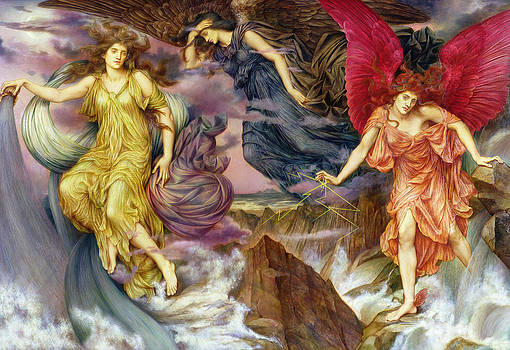 Evelyn De Morgan - The Storm Spirits