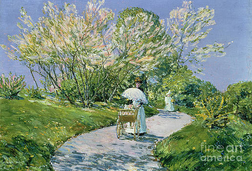 Childe Hassam - A Walk in the Park
