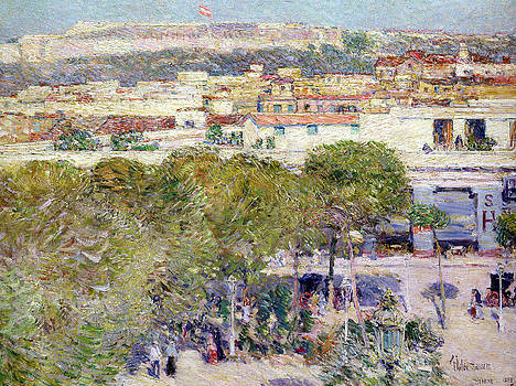 Childe Hassam - Place Centrale and Fort Cabanas - Havana
