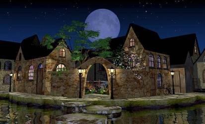 Fantasy Village Art Pixels
