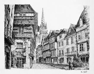 Medieval Town Drawings Fine Art America