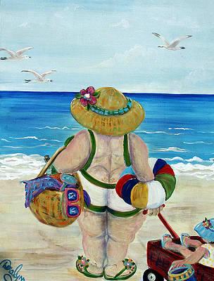 Funny Fat Kid On Beach : funny, beach, Paintings, America