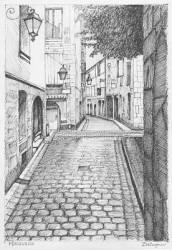 Medieval Village Drawings Fine Art America