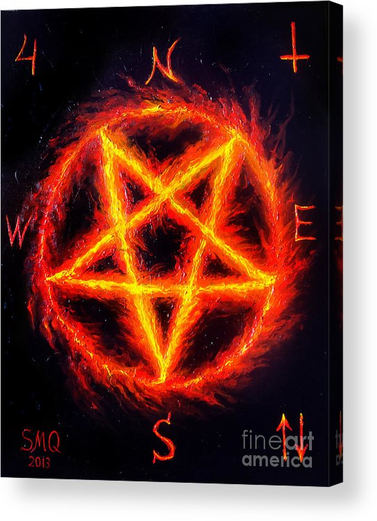 satanic fire pentagram hail