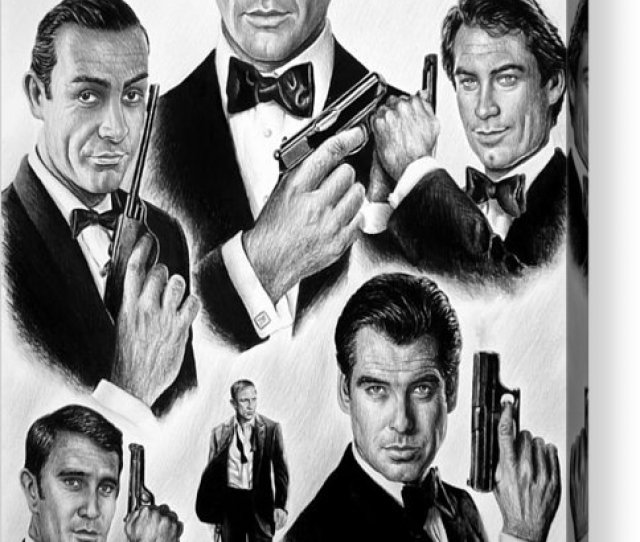 James Bond Acrylic Print Featuring The Drawing Licence To Kill Bw By Andrew Read