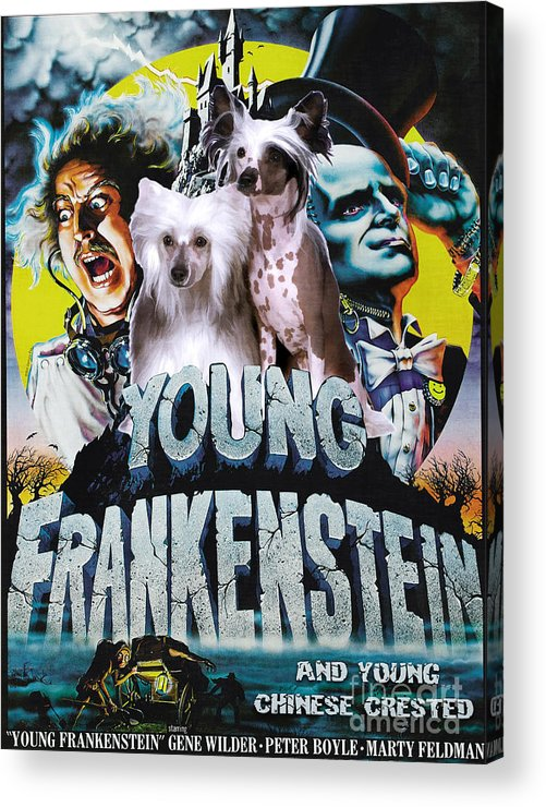 chinese crested art canvas print young frankenstein movie poster acrylic print