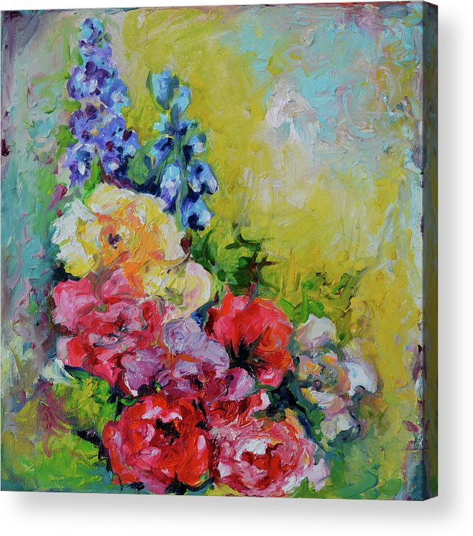 flowers bouquet blue red