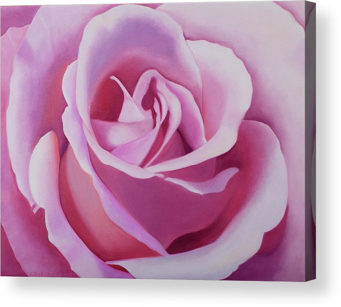 pink rose painting acrylic