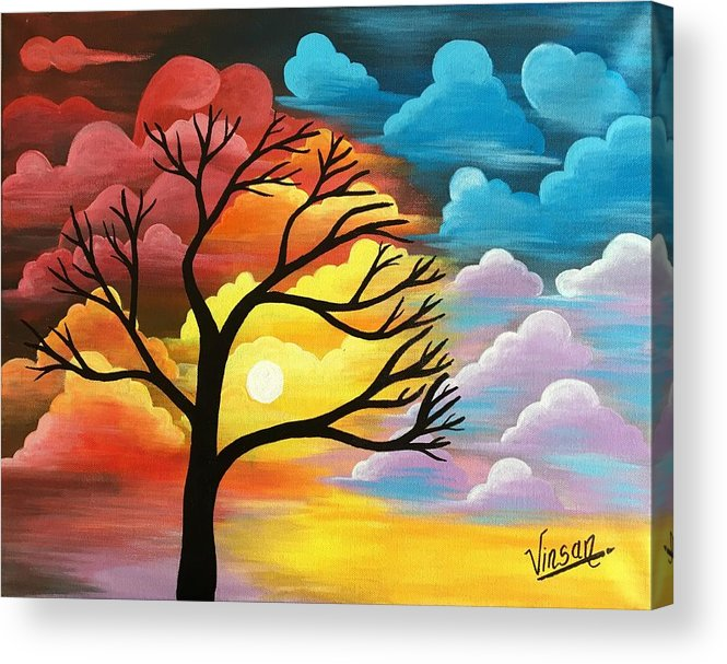 abstract nature acrylic painting