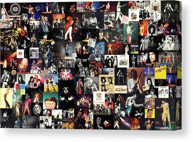 queen collage canvas print