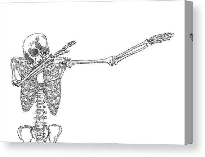 human skeleton dancing dab