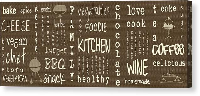 kitchen words canvas print