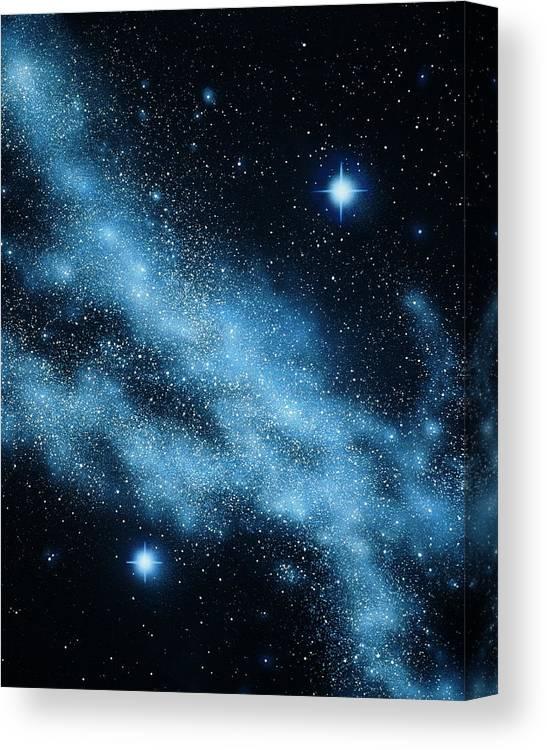 nebula and stars canvas