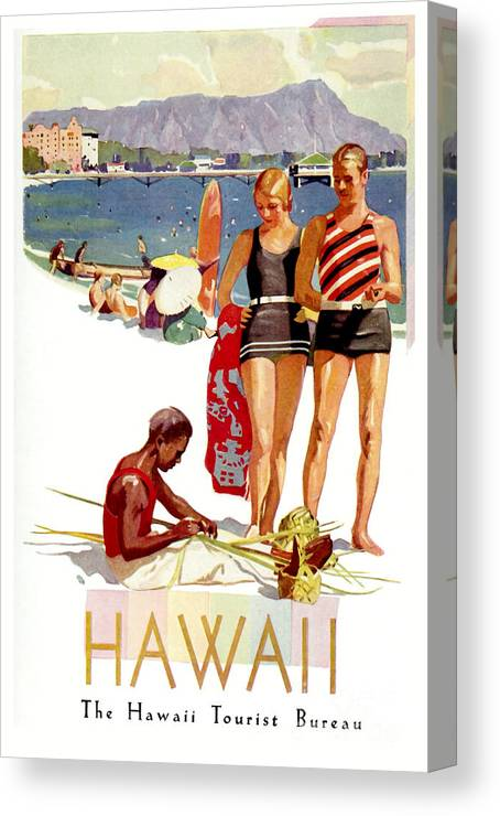 hawaii vintage travel poster print
