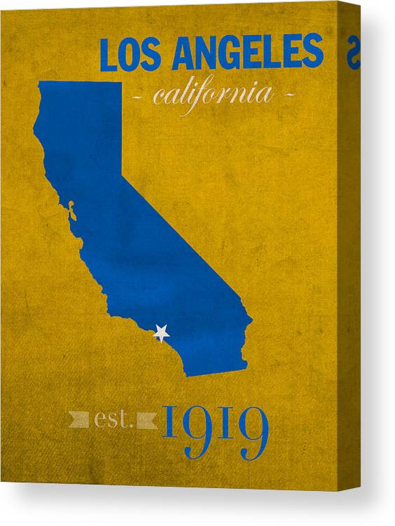 ucla university of california los angeles bruins college town state map poster series no 026 canvas print