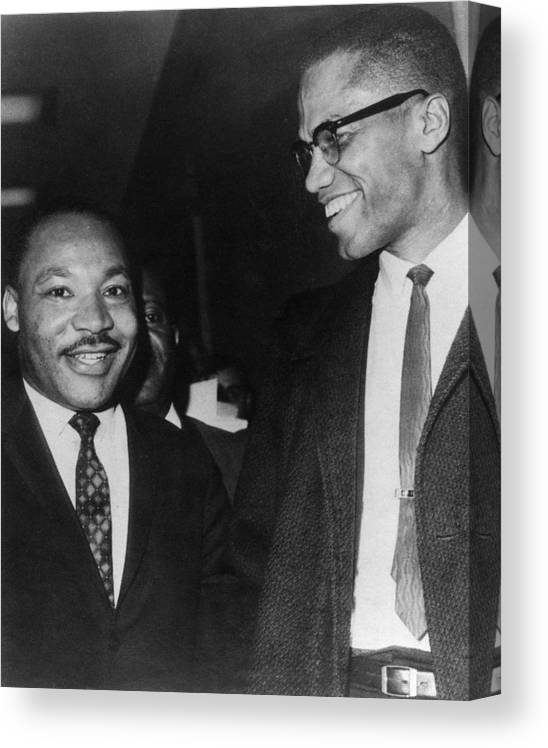 Martin Luther King Malcolm X : martin, luther, malcolm, Martin, Luther, Malcolm, Canvas, Print, Everett