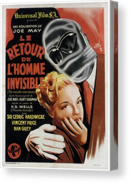 Le Retour De L'homme Invisible : retour, l'homme, invisible, Invisible, Returns, Retour, Canvas, Print, Everett