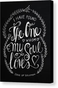 I Have Found The One Whom My Soul Loves Canvas Print ...