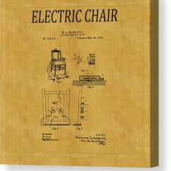 Electric Chair Was Invented By Stability Ball Base Patent 1 Canvas Print Art Andrew Fare Featuring The Photograph