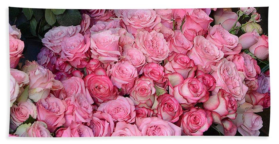 paris french market pink roses paris romantic pink shabby chic roses bath towel
