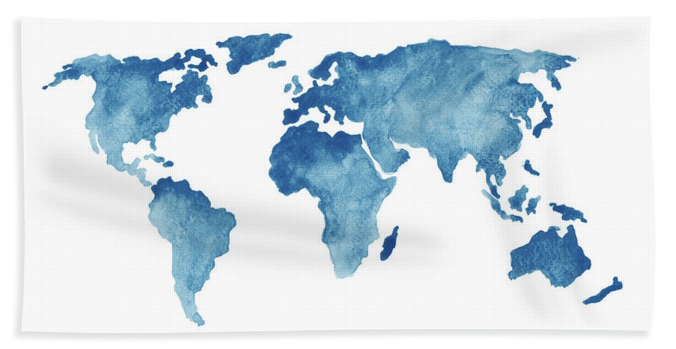 world map blue navy
