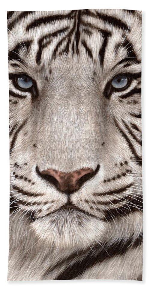 White Tiger For Sale : white, tiger, White, Tiger, Painting, Beach, Towel, Rachel, Stribbling