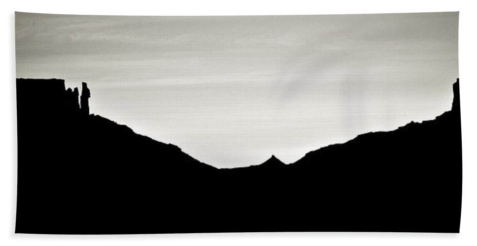 western silhouette beach towel
