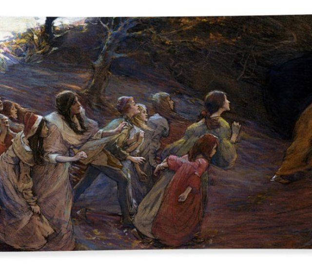 The Pied Piper Of Hamelin Beach Towel For Sale By Elizabeth Adela Stanhope Forbes