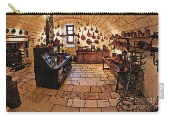 Medieval Kitchen Carry all Pouch for Sale by Paul Topp Small 6 x 4