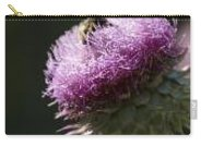 Bee Carry-all Pouch featuring the photograph Bee On Thistle by Nancy Ayanna Wyatt