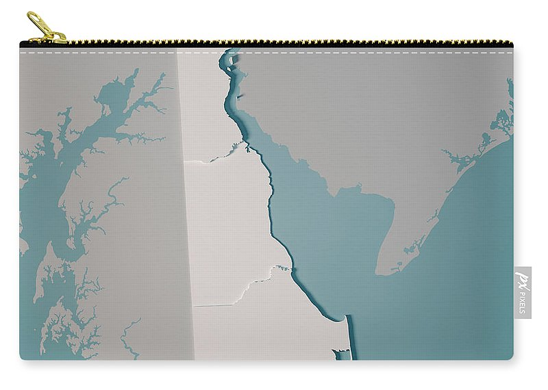 Most of the land of delaware is very flat, averaging only 58 ft. Delaware Us State Map Administrative Divisions Counties 3d Rende Carry All Pouch For Sale By Frank Ramspott
