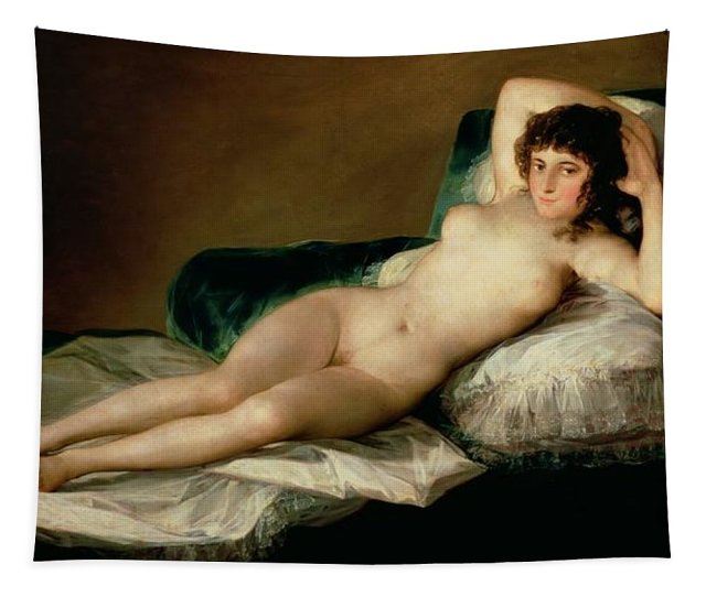 The Naked Maja Tapestry For Sale By Goya