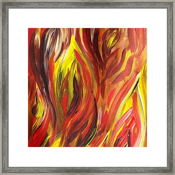 abstract flames framed print