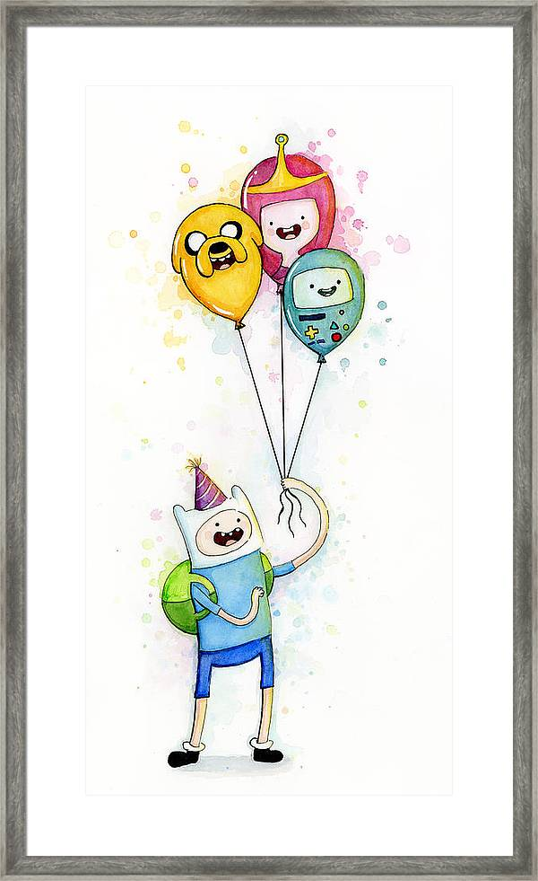 Adventure Time Finn With Birthday Balloons Jake Princess