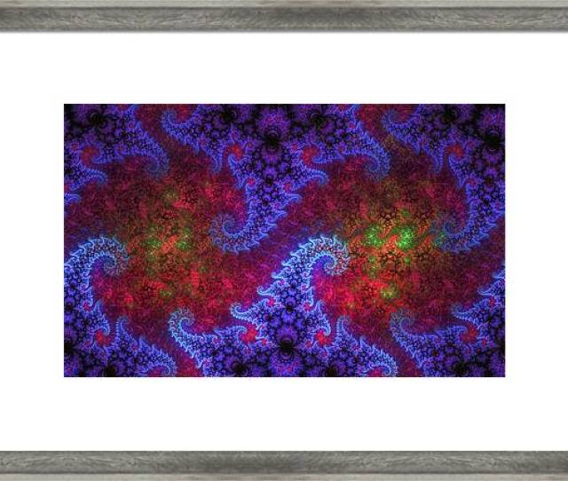 Fractal Framed Print Featuring The Digital Art Mobius Unleashed By Gj Blackman