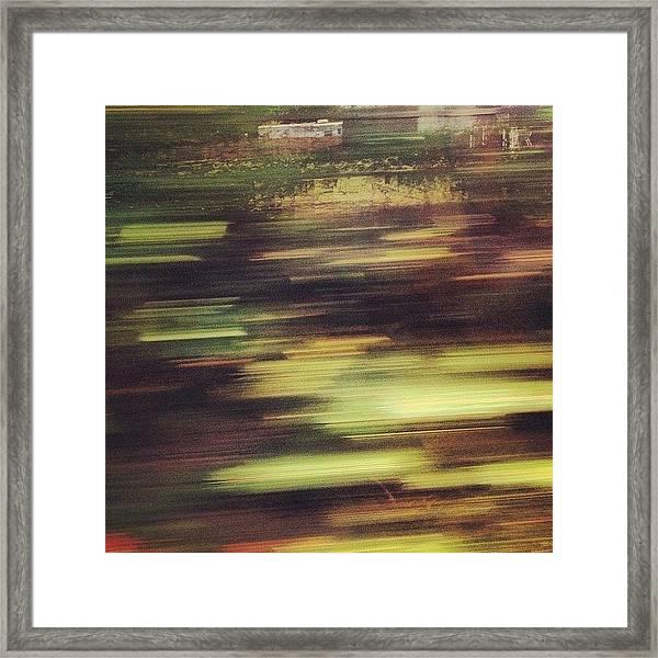 blurred scenery framed print