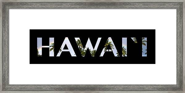 hawaii letter art framed