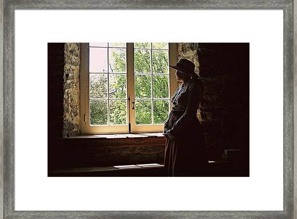 Looking Out Of The Window framed print by Tatiana Travelways