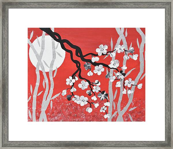 oriental art cherry blossom