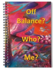 Colorful Spiral Notebook featuring the photograph Off Balance? Who? Me? by Nancy Ayanna Wyatt