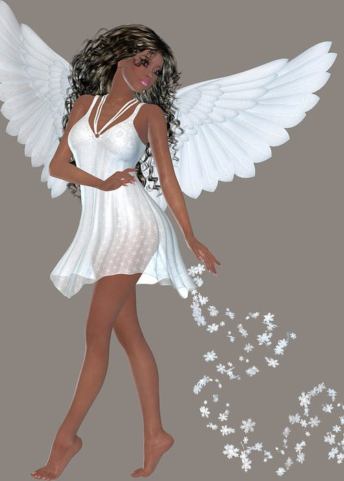 American Girl Doll Wallpaper African American Angel Girl Greeting Card For Sale By Marcella