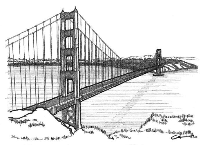 Golden Gate Bridge Greeting Card for Sale by Calvin Durham