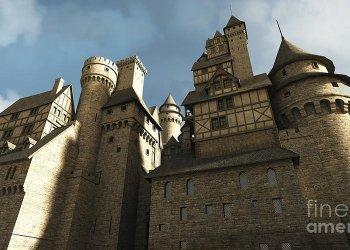 Medieval Castle Walls Digital Art by Fairy Fantasies