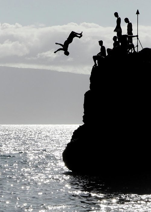 Black Rock Cliff Jumping : black, cliff, jumping, Cliff, Diving, Black, Greeting, Pierre, Leclerc, Photography