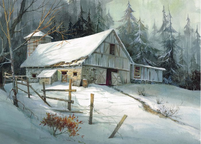 Posters And Farm Landscape Winter Paintings
