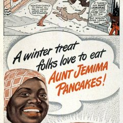 Aunt Jemima Kitchen Curtains Quality Knives Ad 1948 Greeting Card For Sale By Granger Domestic Featuring The Photograph