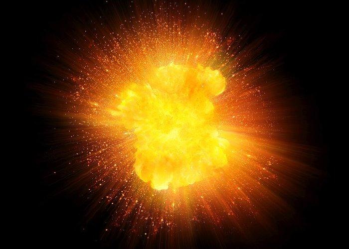 realistic fire explosion orange
