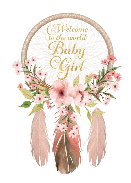 New Baby Girl Welcome To The World : welcome, world, Welcome, World, Dreamcatcher, Greeting, Forest