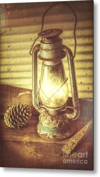 Early Settler Oil Lamp Metal Print by Jorgo Photography ...