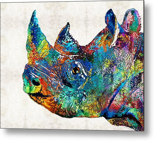 rhino rhinoceros art looking
